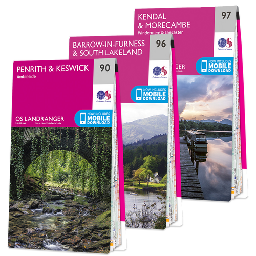 OS Landranger Lake District map set