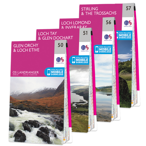 OS Landranger Loch Lomond and The Trossachs map set
