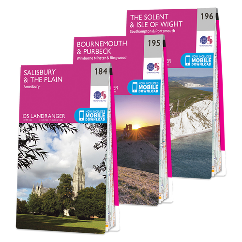 OS Landranger New Forest map set