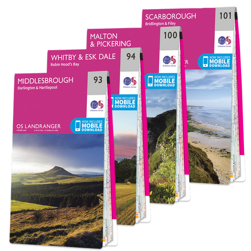 OS Landranger North York Moors map set