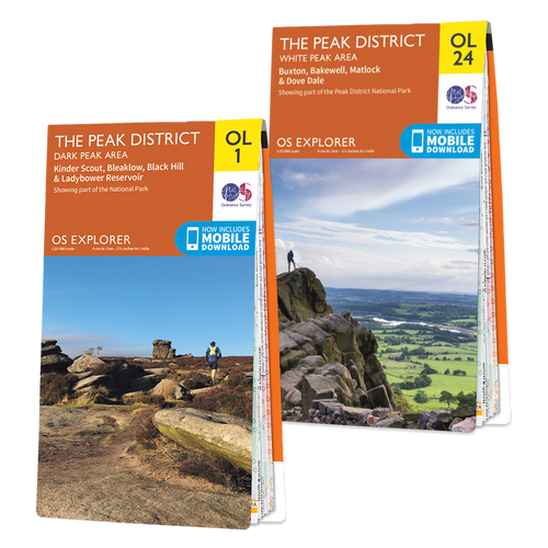 OS Explorer Peak District map set