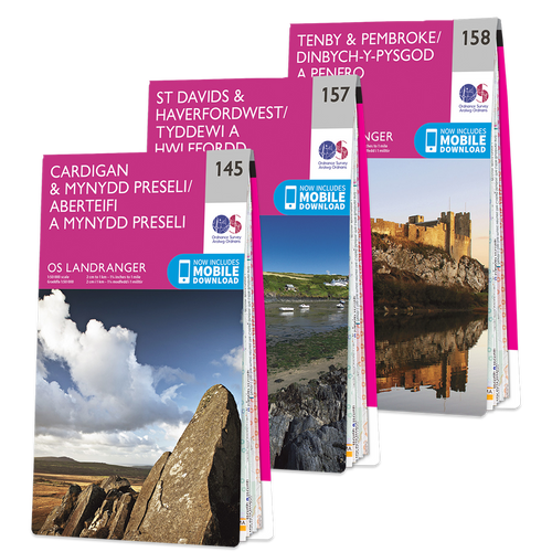 OS Landranger Pembrokeshire Coast map set