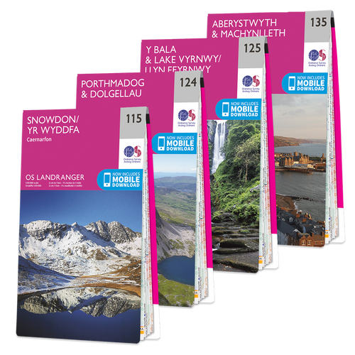 OS Landranger Snowdonia map set