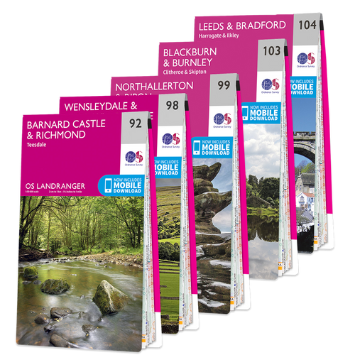 OS Landranger Yorkshire Dales map set