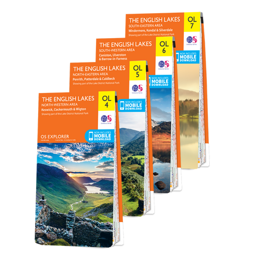 OS Explorer Lake District map set