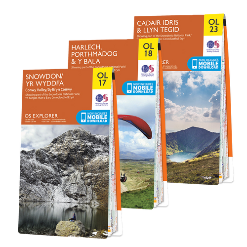 OS Explorer Snowdonia map set