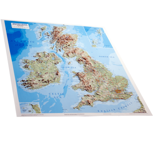Dorrigo 3D British Isles relief map