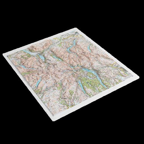 Dorrigo 3D Lake District relief map