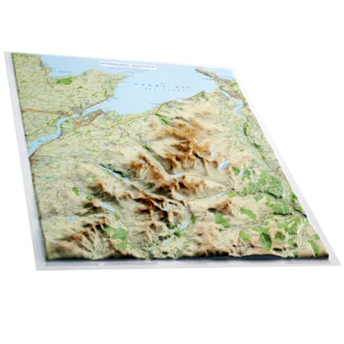 Dorrigo 3D Snowdonia relief map