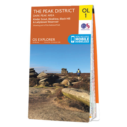Map of The Peak District - Dark Peak Area