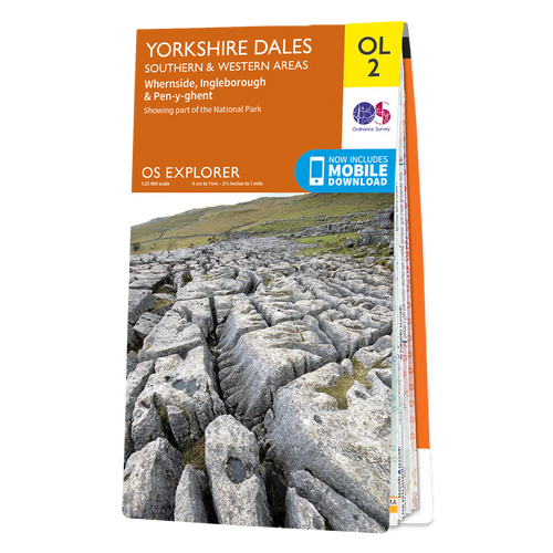 Map of Yorkshire Dales - Southern & Western Area