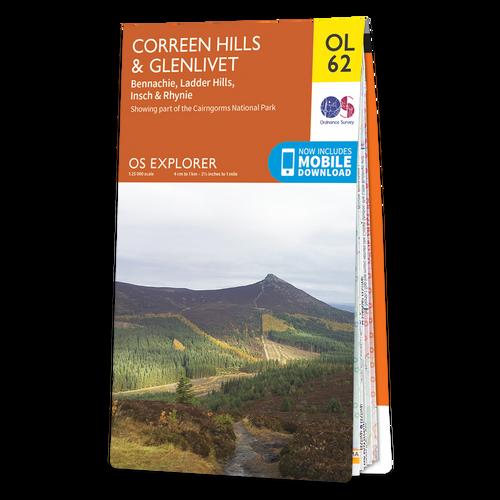 Map of Coreen Hills & Glenlivet