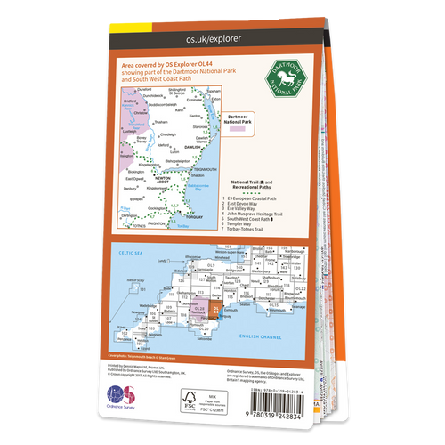 Map of Torquay & Dawlish