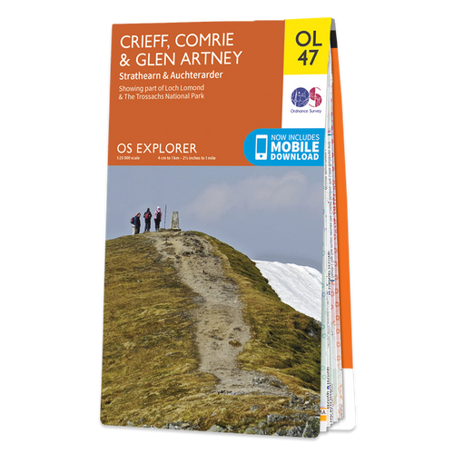 Map of Crieff, Comrie & Glen Artney