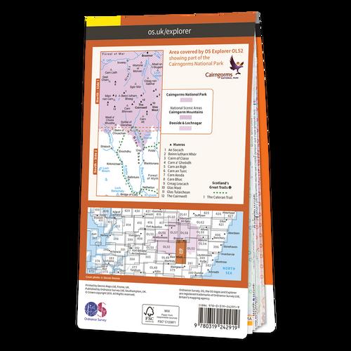 Map of Glen Shee & Braemar