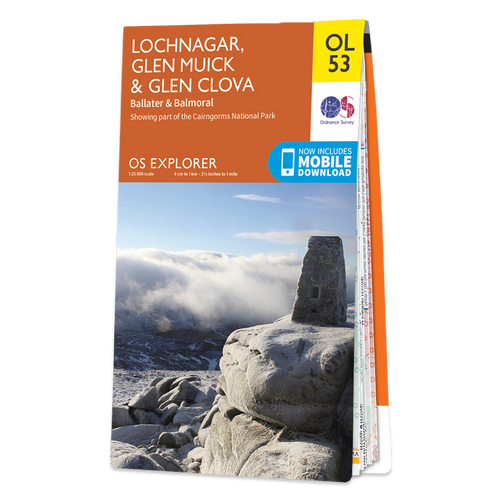 Map of Lochnagar, Glen Muick & Glen Clova