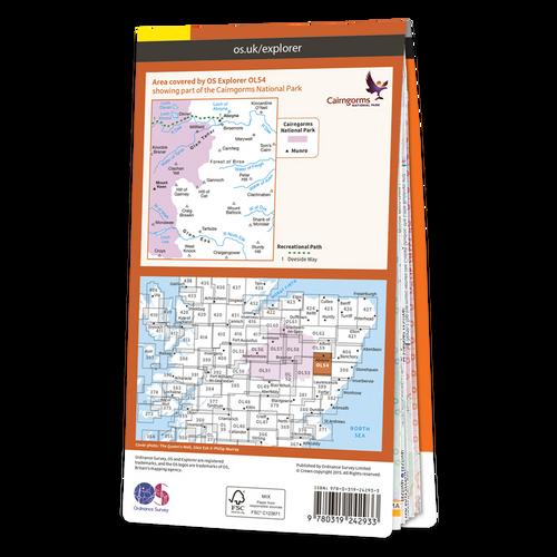 Map of Glen Esk & Glen Tanar