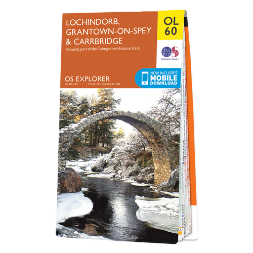 Map of Lochindorb, Grantown-on-Spey & Carrbridge
