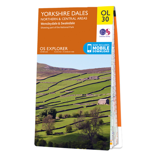 Map of Yorkshire Dales - Northern & Central Area