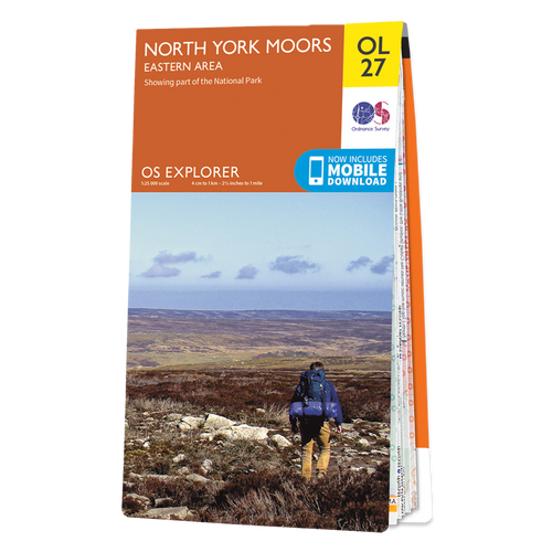 Map of North York Moors - Eastern area