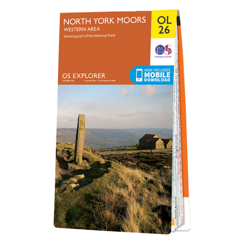 Map of North York Moors - Western area