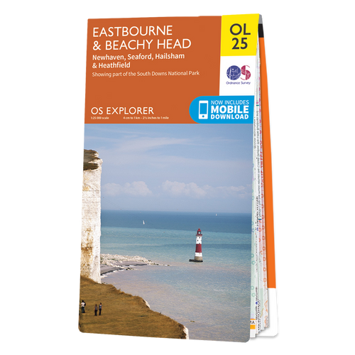 Map of Eastbourne & Beachy Head
