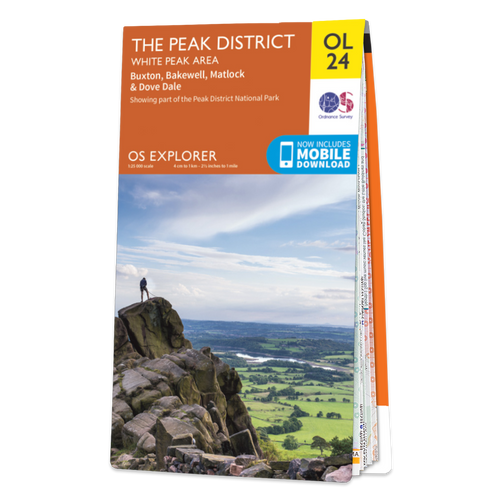 Map of The Peak District - White Peak Area
