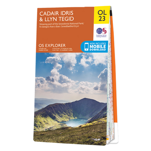 Map of Cadair Idris & Bala Lake