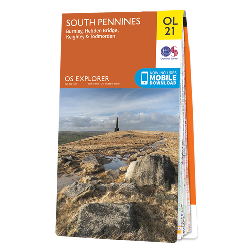 Map of South Pennines