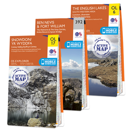 OS Explorer National Three Peaks Challenge map set