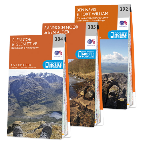 OS Explorer Ben Nevis map set