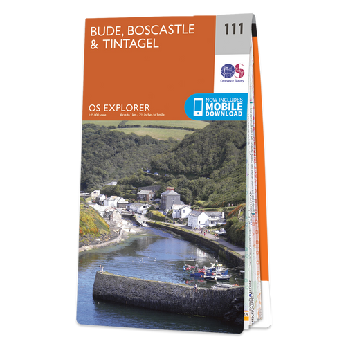 Map of Bude, Boscastle & Tintagel