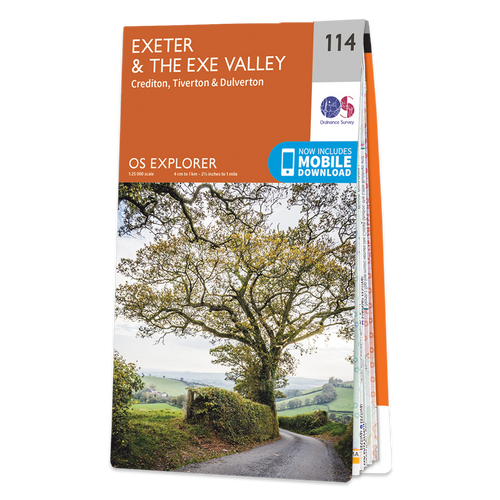Map of Exeter & the Exe Valley