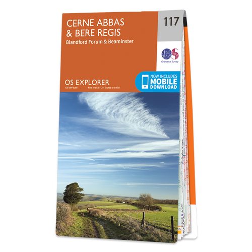 Map of Cerne Abbas & Bere Regis