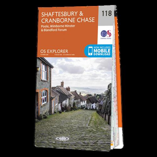 Map of Shaftesbury & Cranborne Chase
