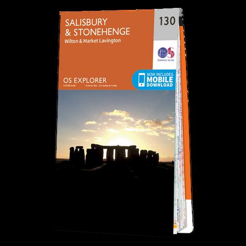 Map of Salisbury & Stonehenge