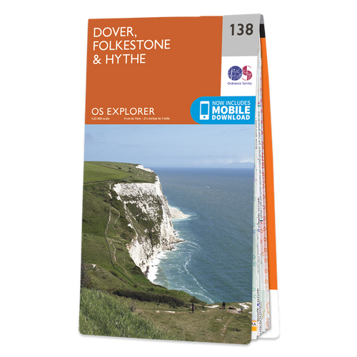 Map of Dover, Folkestone & Hythe