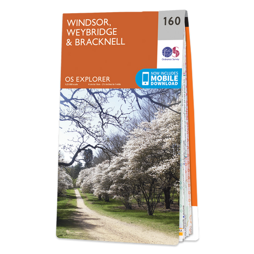 Map of Windsor, Weybridge & Bracknell