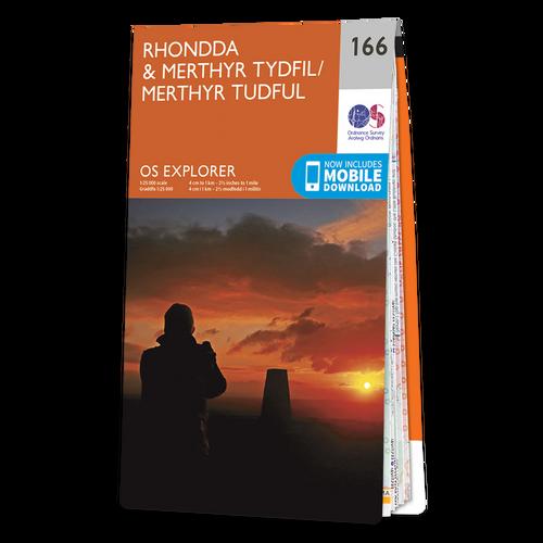 Map of Rhondda & Merthyr Tydfil