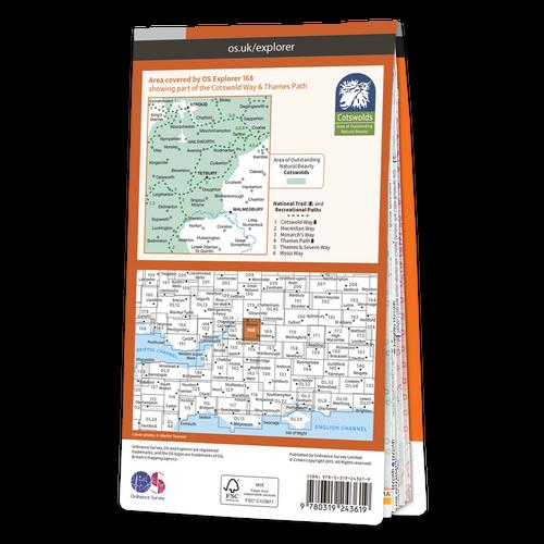 Map of Stroud, Tetbury & Malmesbury