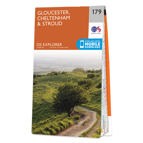 Map of Gloucester, Cheltenham & Stroud