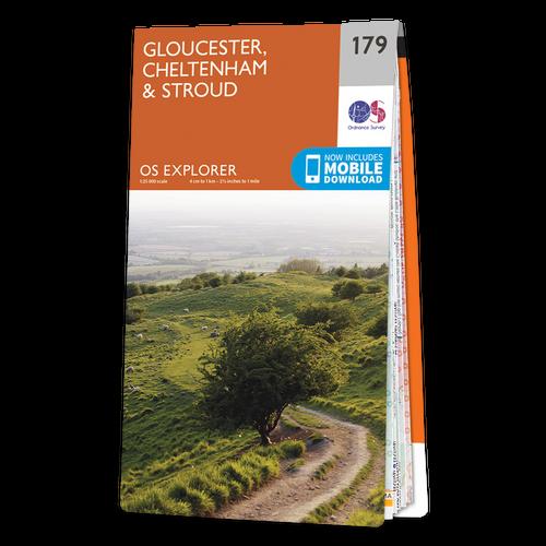 Map of Gloucester, Cheltenham & Stroud