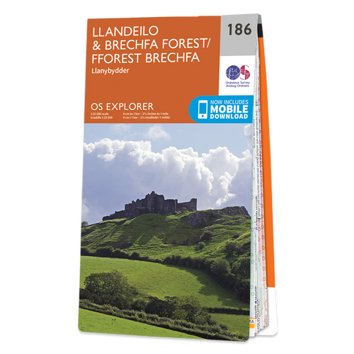 Map of Llandeilo & Brechfa Forest