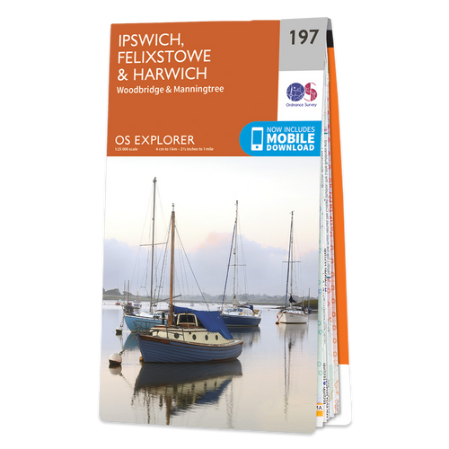 Map of Ipswich, Felixstowe & Harwich