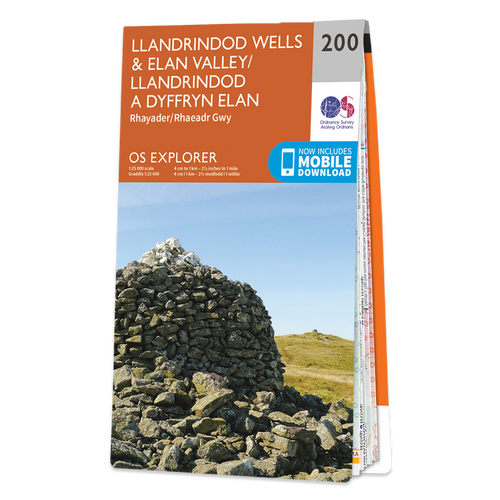 Map of Llandrindod Wells & Elan Valley