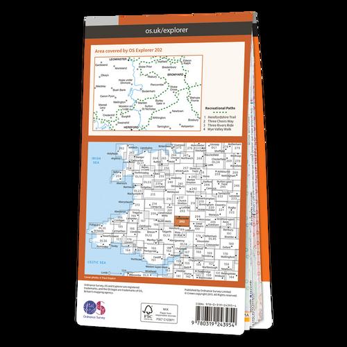 Map of Leominster & Bromyard
