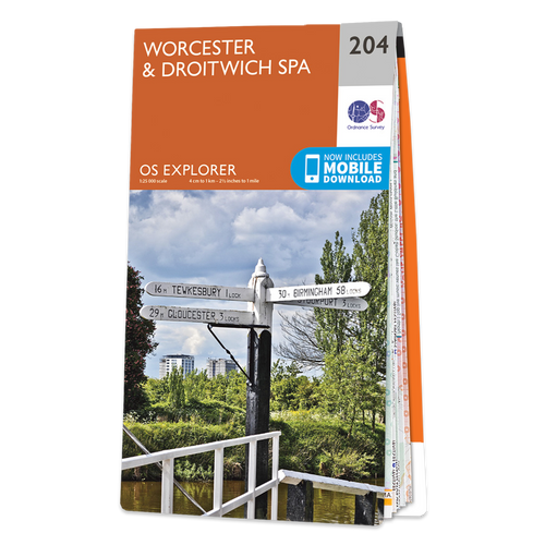 Map of Worcester & Droitwich Spa