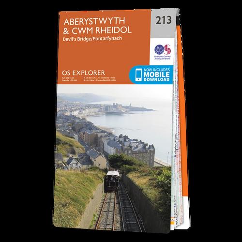Map of Aberystwyth & Cwm Rheidol