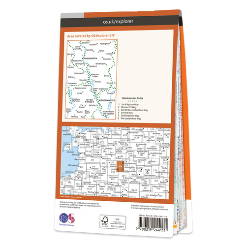 Map of Kidderminster & Wyre Forest Bridgnorth
