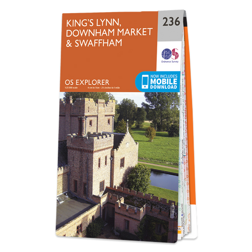 Map of King's Lynn, Downham Market & Swaffham